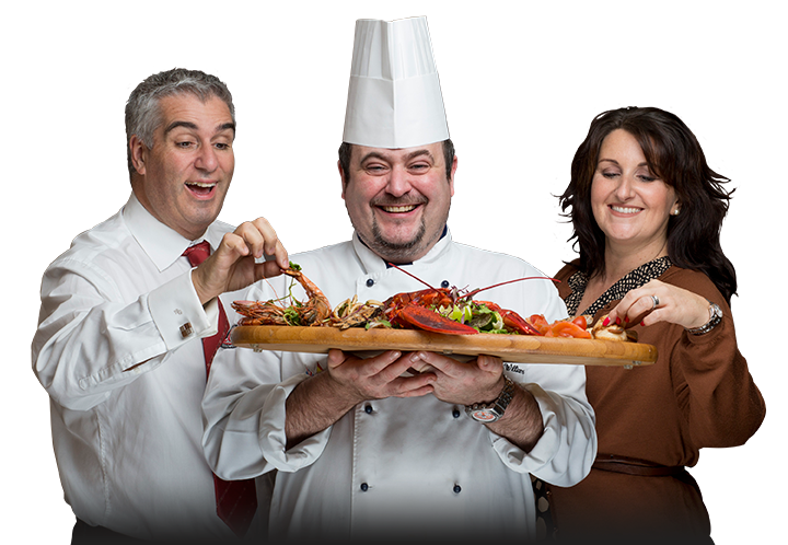 Spiros team - Spiro, Wayne the head chef, Lisa