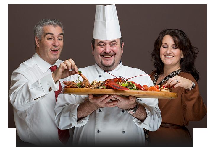 Spiros team - Spiro, Wayne the head chef, Lisa
