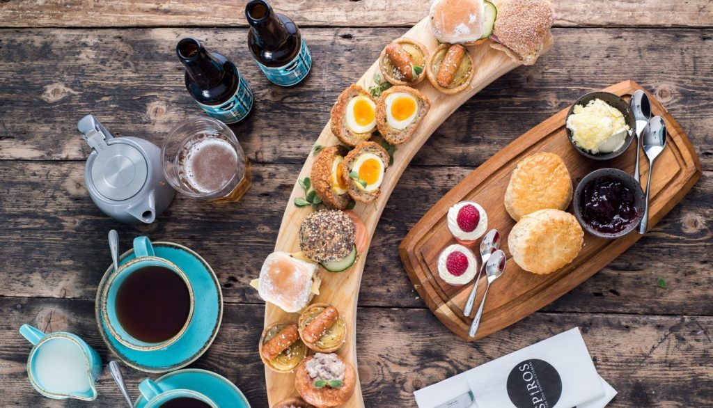 Gentleman's afternoon tea for Father's Day at The Pantry, Cornerstone