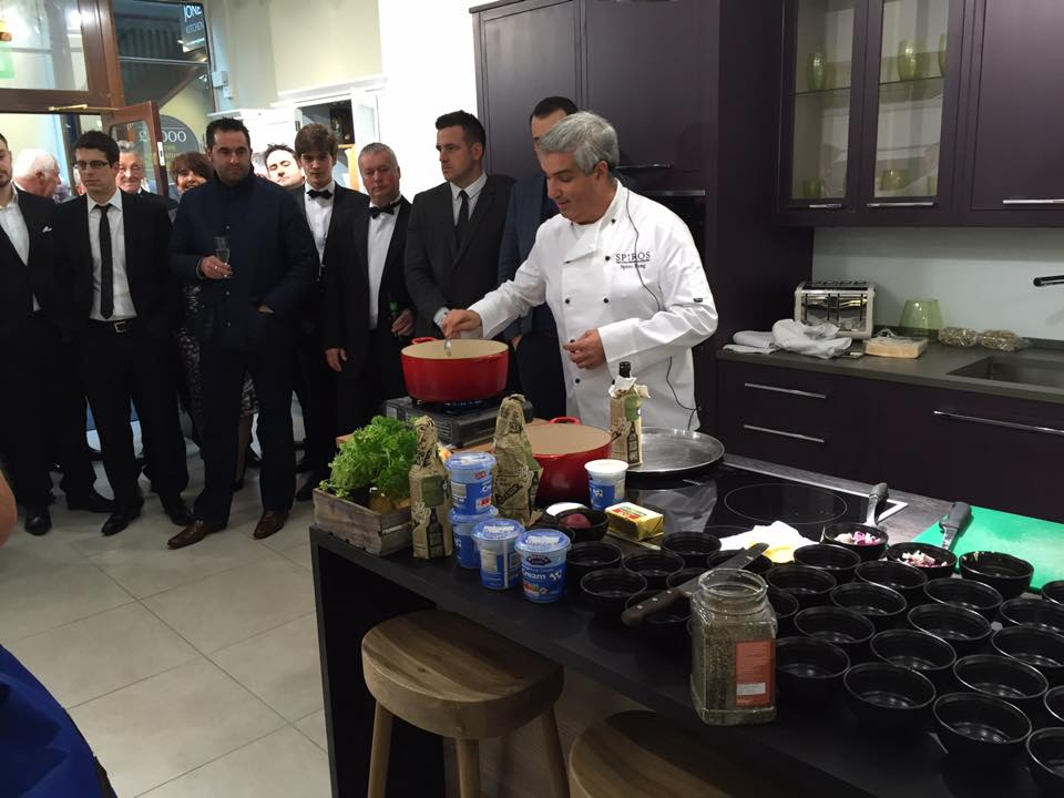 Spiro's cooking demonstration at the Brogue Does Bond charity event
