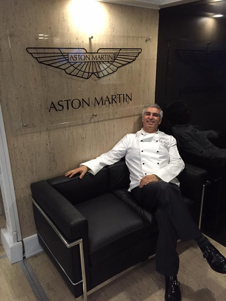 Spiro posing with Aston Martin at the Brogue does Bond event