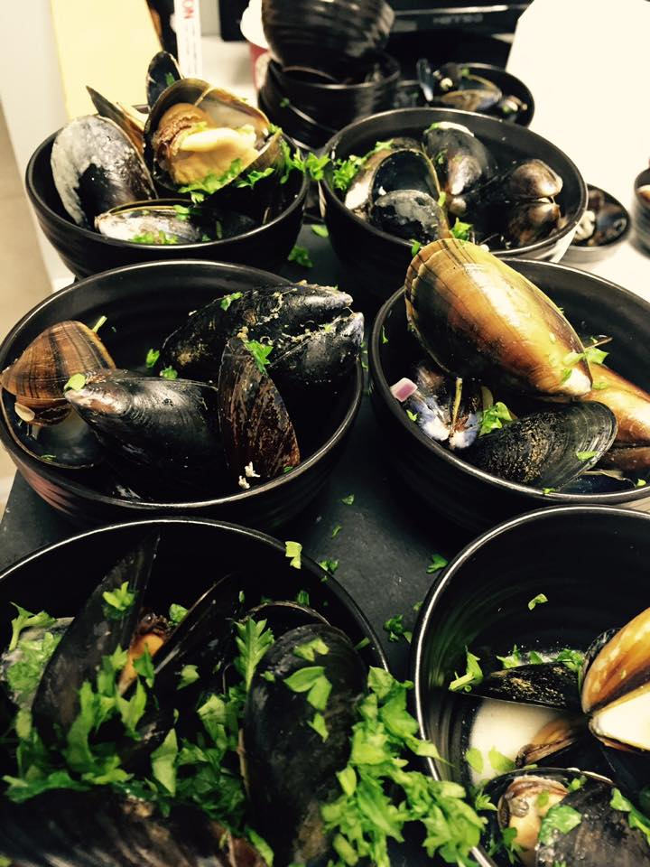 Cooked mussels on the menu at the Brogue Does Bond charity event