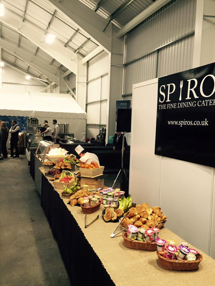 Spiros continental food at the Introbiz expo