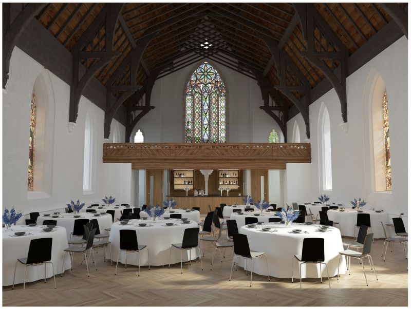 Cornerstone inside hall, a new venue for Spiros weddings