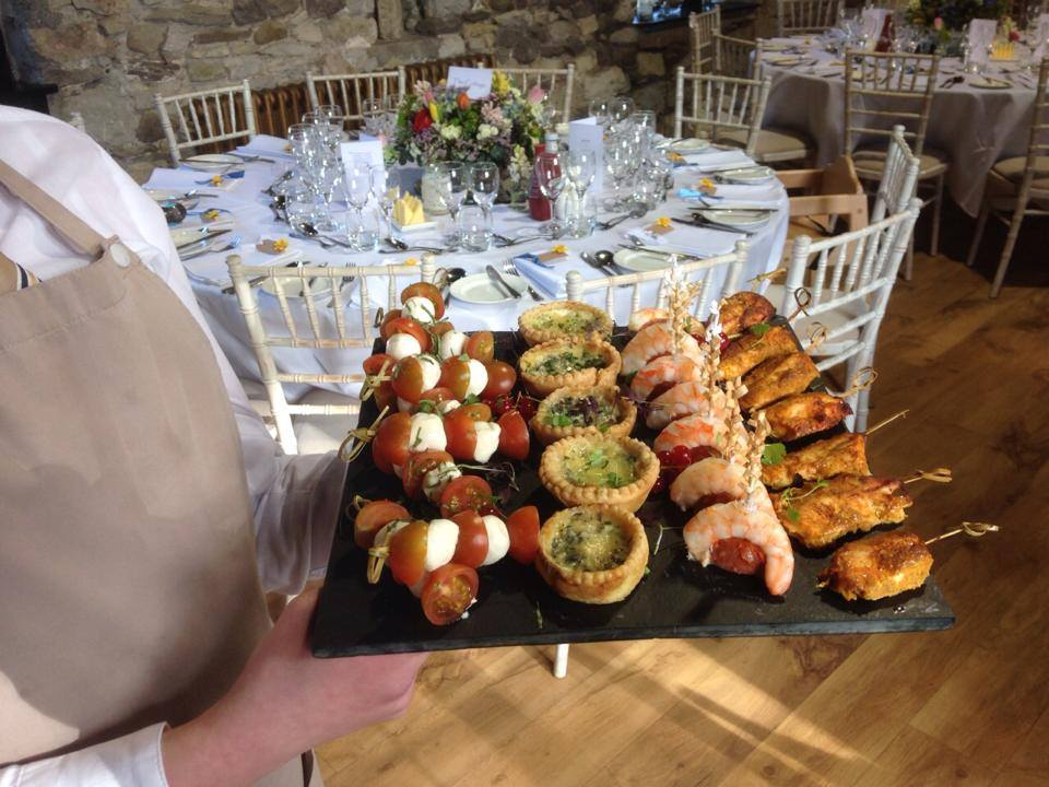 Food platter at a Spring wedding at Pencoed House