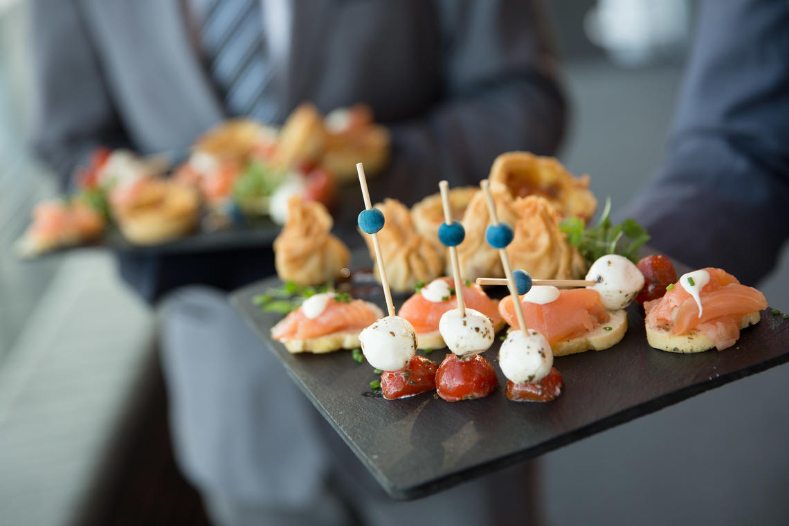 Corporate away day in Cardiff - canapés food ideas