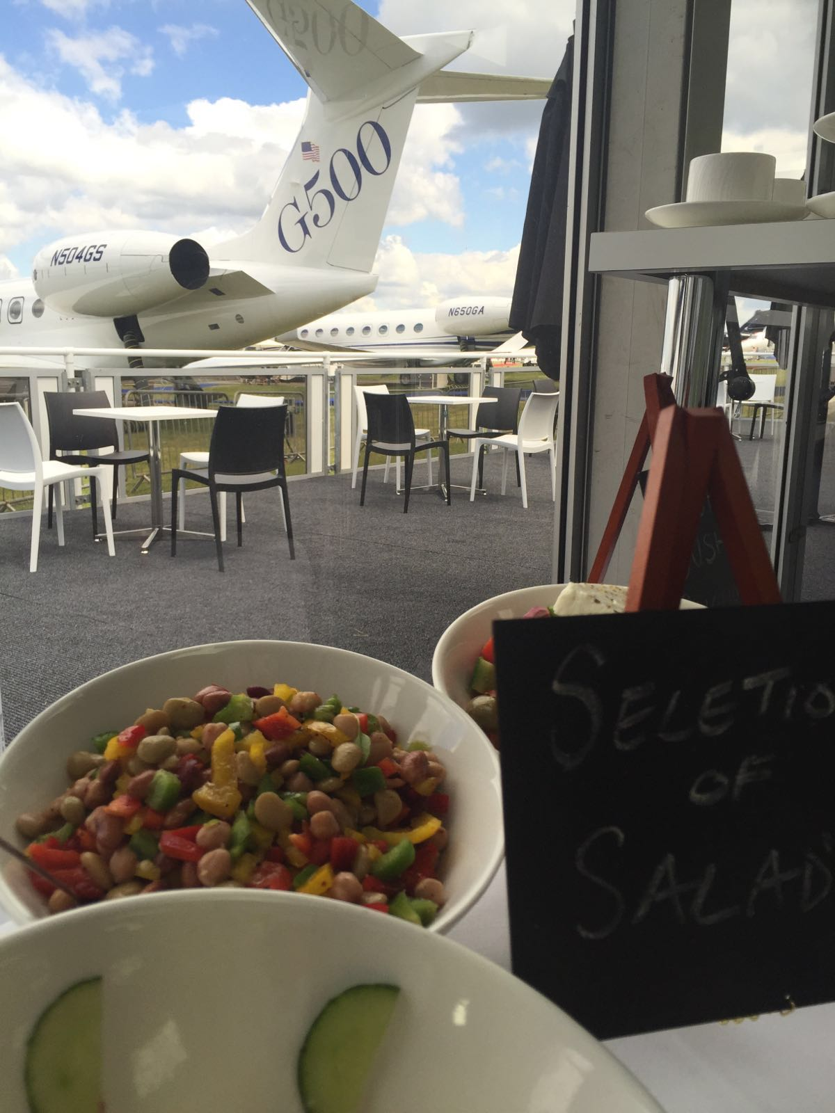 Spiros Cardiff corporate catering for Farnborough Air Show 2016