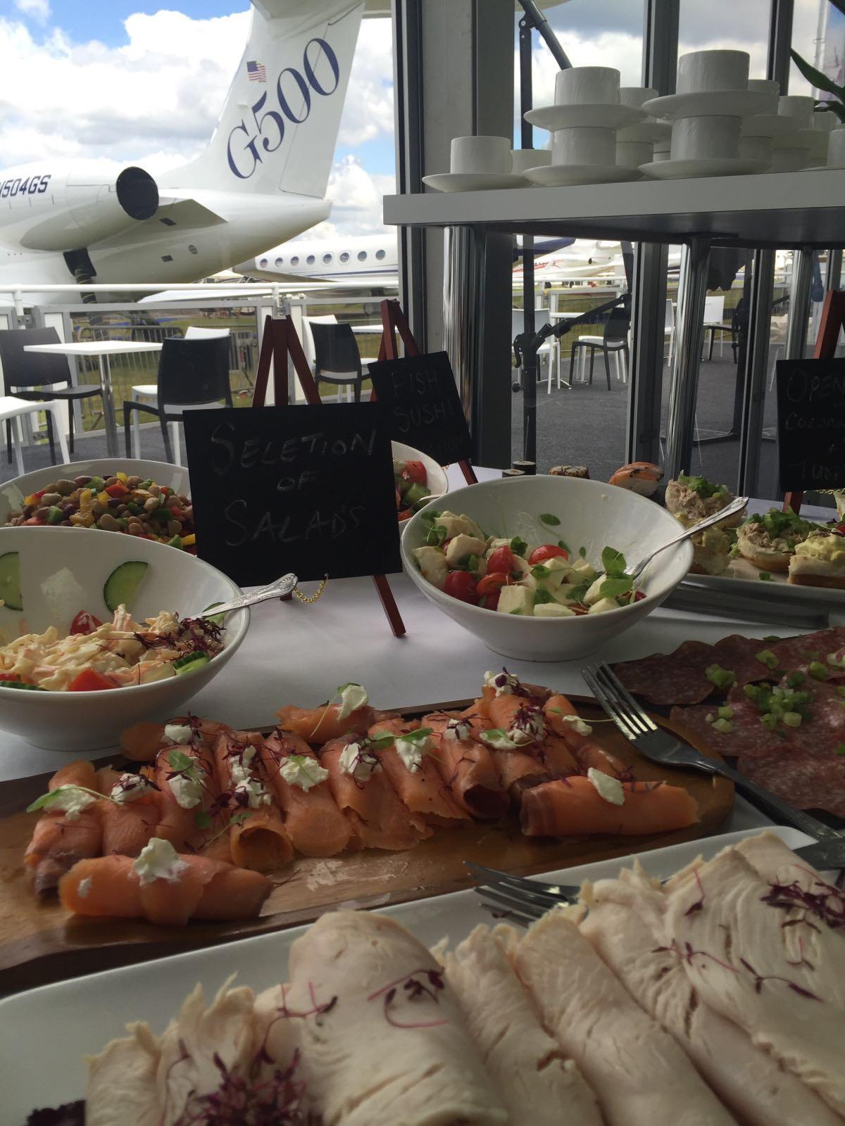 Spiros catering for Farnborough Air Show 2016