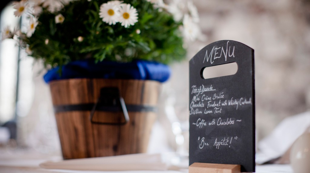 Bespoke wedding menus by Spiros