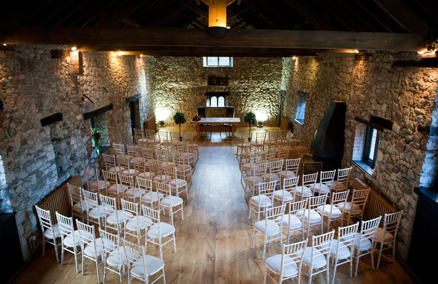 Wedding hall at Pencoed House Estate