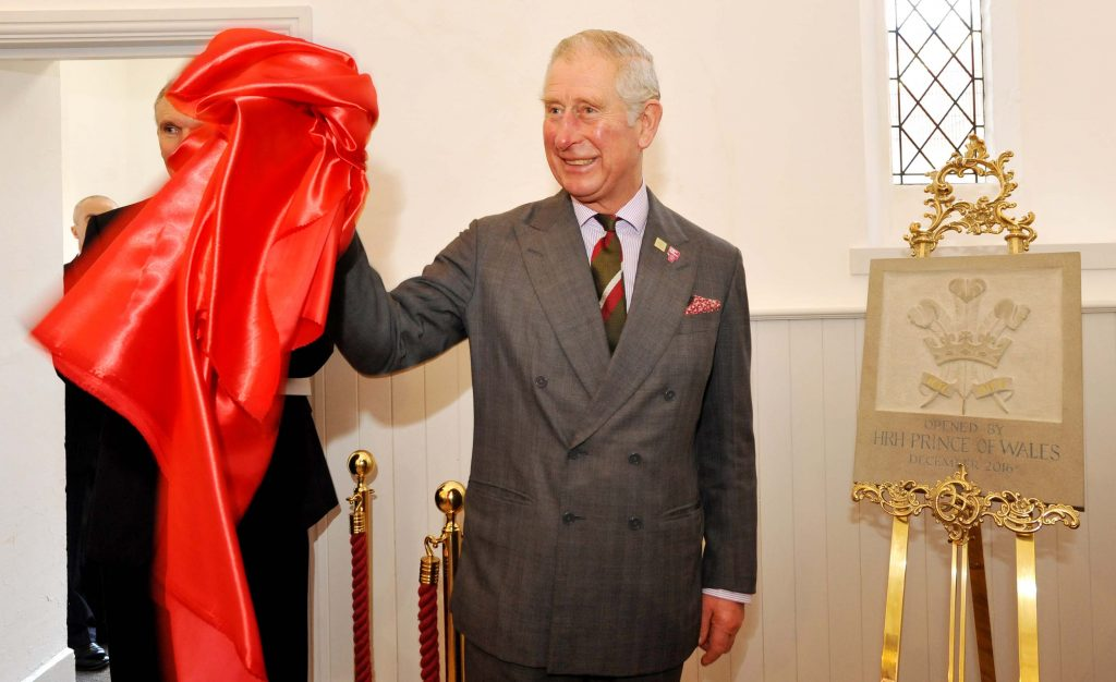 HRH Prince of Wales opens Cornerstone, at Cardiff