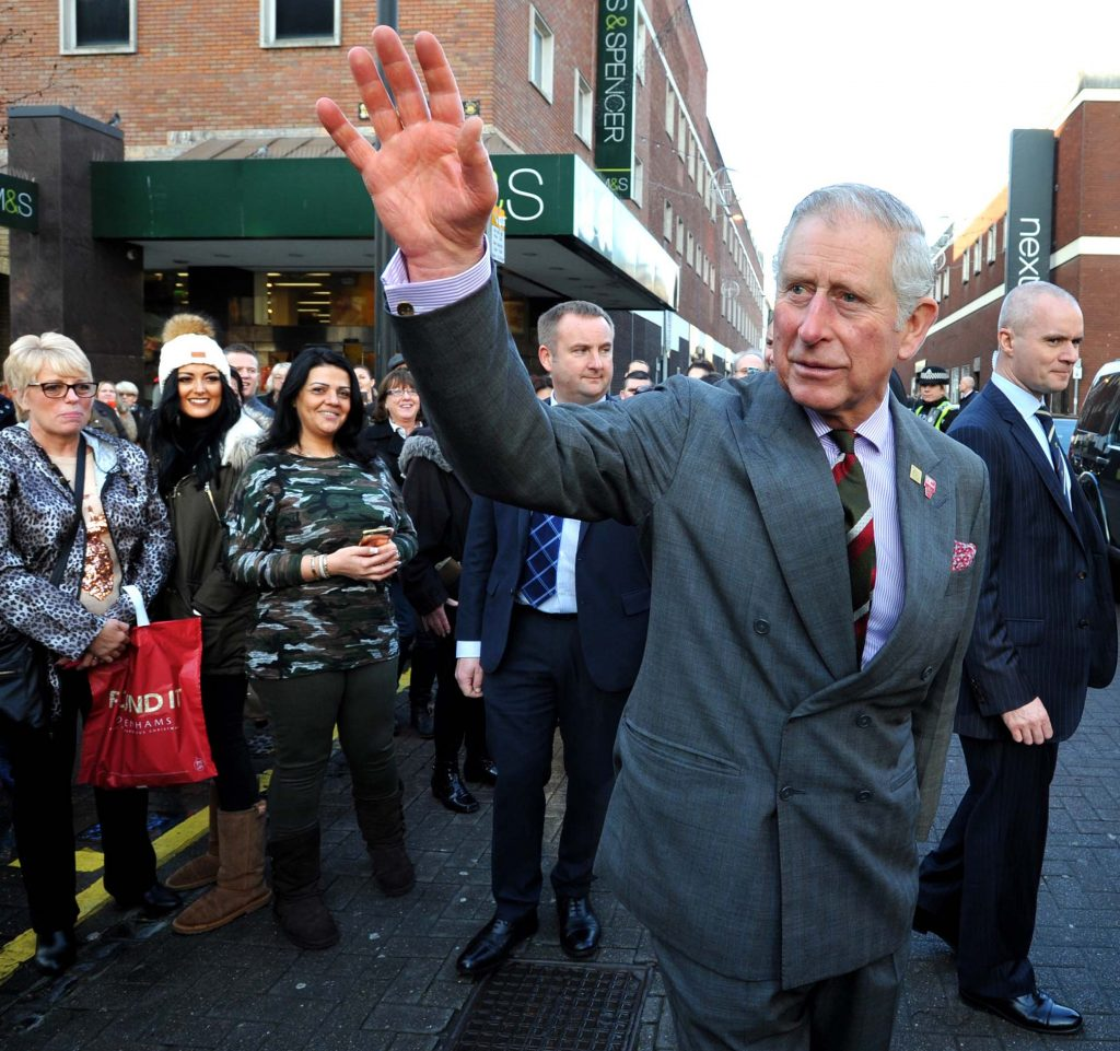 Prince Charles visits Cornerstone Cardiff with Spiros Fine Dining Caterers