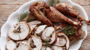 Turkey and pheasant roulade recipe