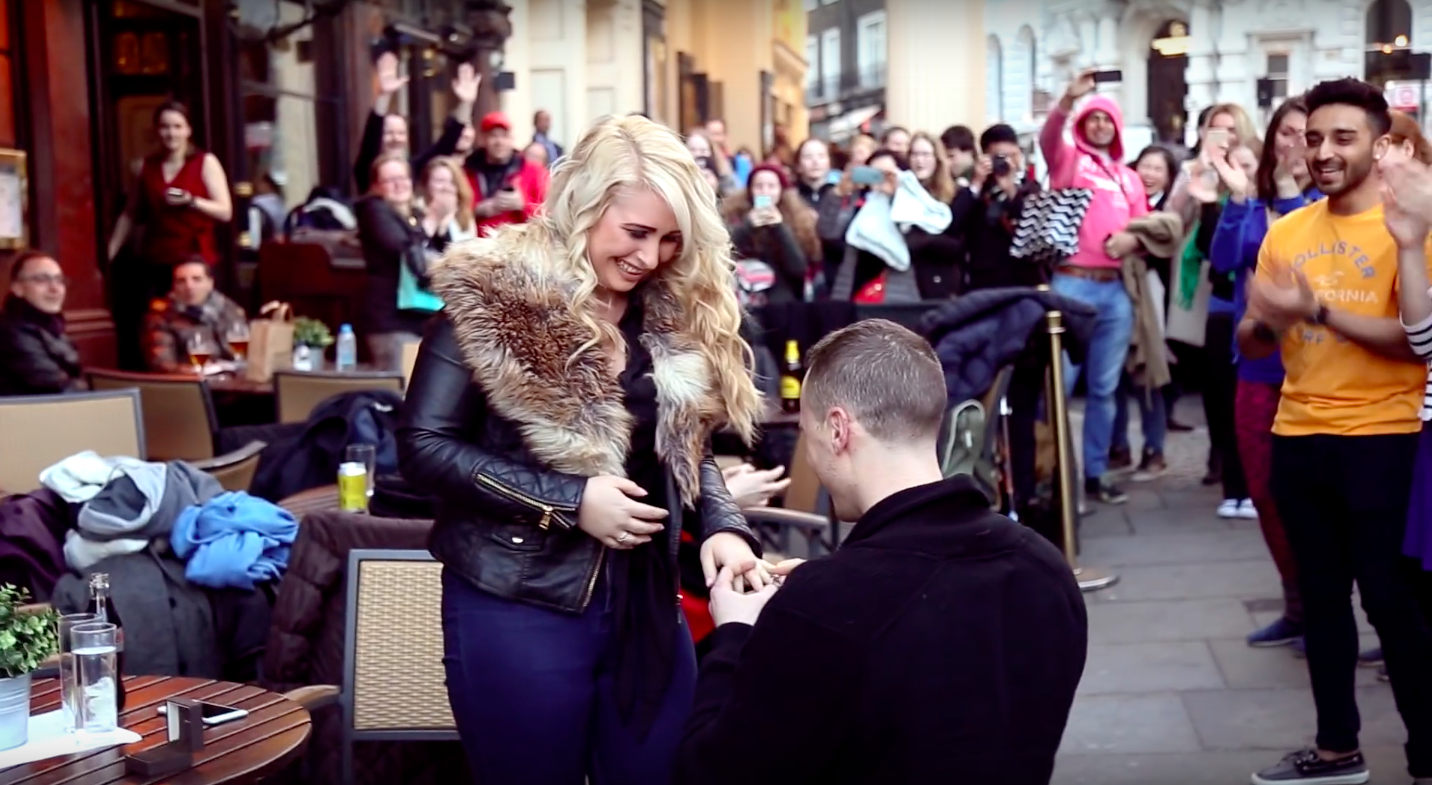 Watch this Spiros bride and groom get engaged with a Disney flashmob proposal