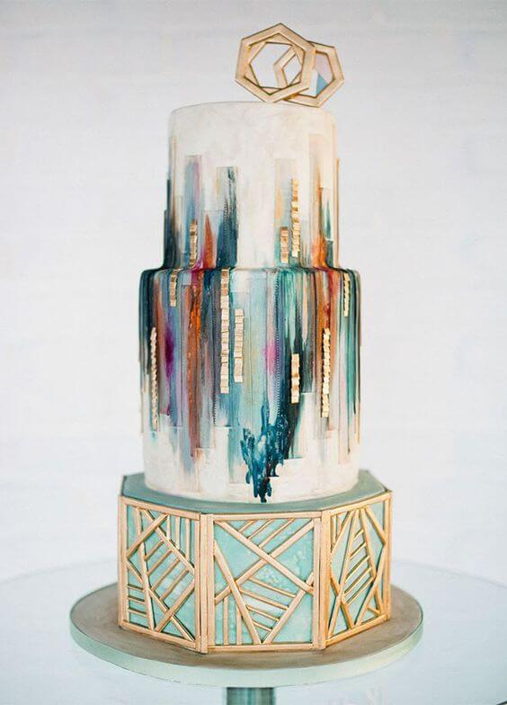 Cake Modern Art : CAKE OFF: fairytale VS art deco Spiros - Fine dining ...