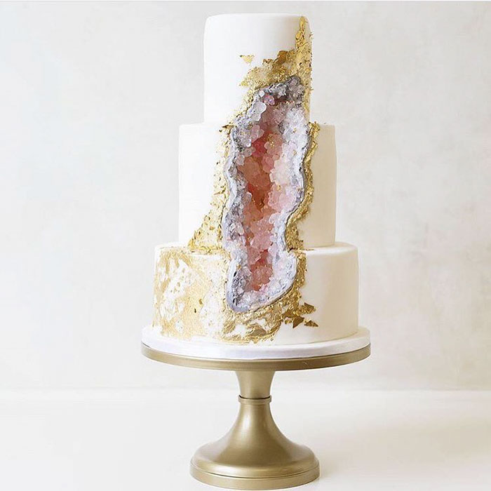 Spiros - wedding cake ideas - luxury geode cakes