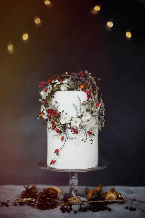Spiros - summer wedding cakes vs rustic winter wedding cakes