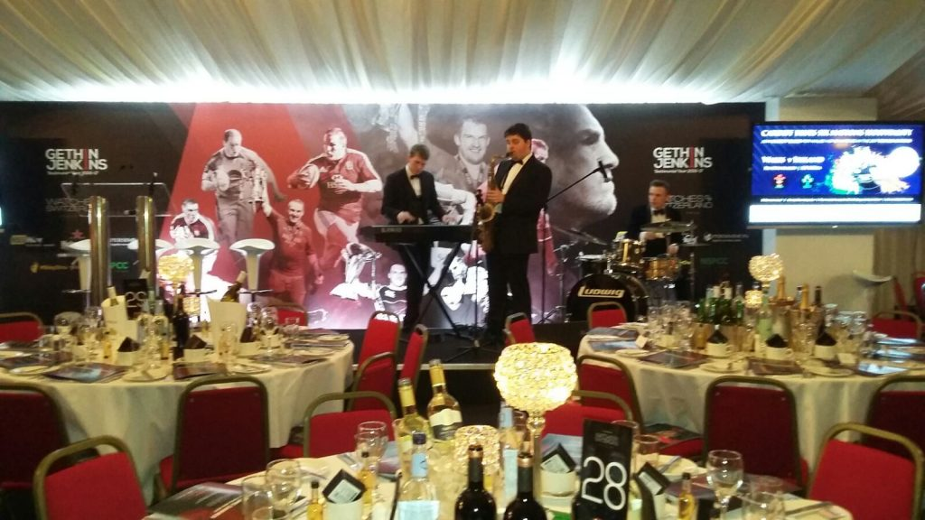 Gethin Jenkins testimonial dinner, Thursday 9th February 2017 with Spiros Caterers - stage