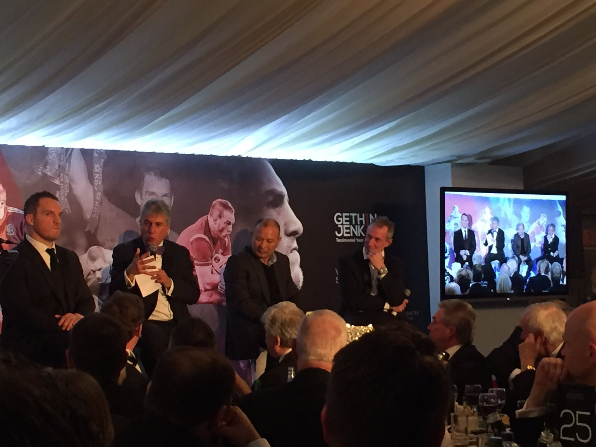 View the photos & behind the scenes from Gethin Jenkins Testimonial Dinner