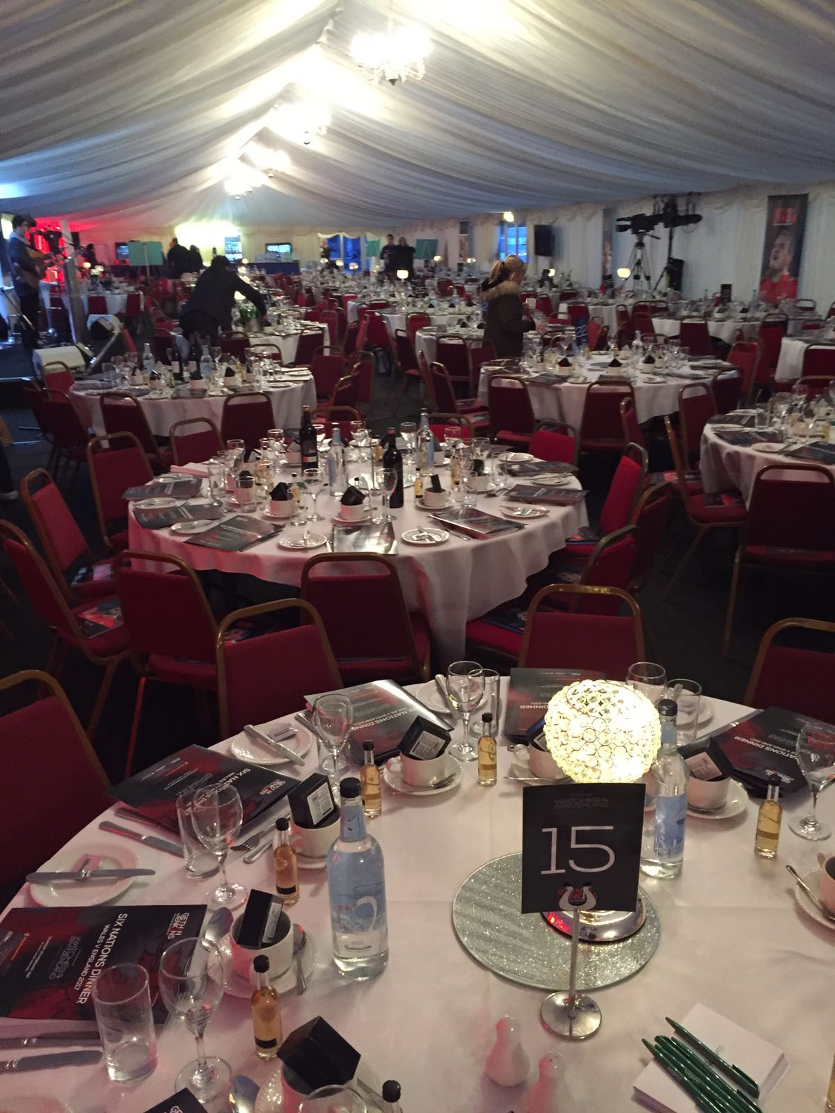 Gethin Jenkins testimonial dinner, Thursday 9th February 2017 with Spiros Caterers - the room during the event