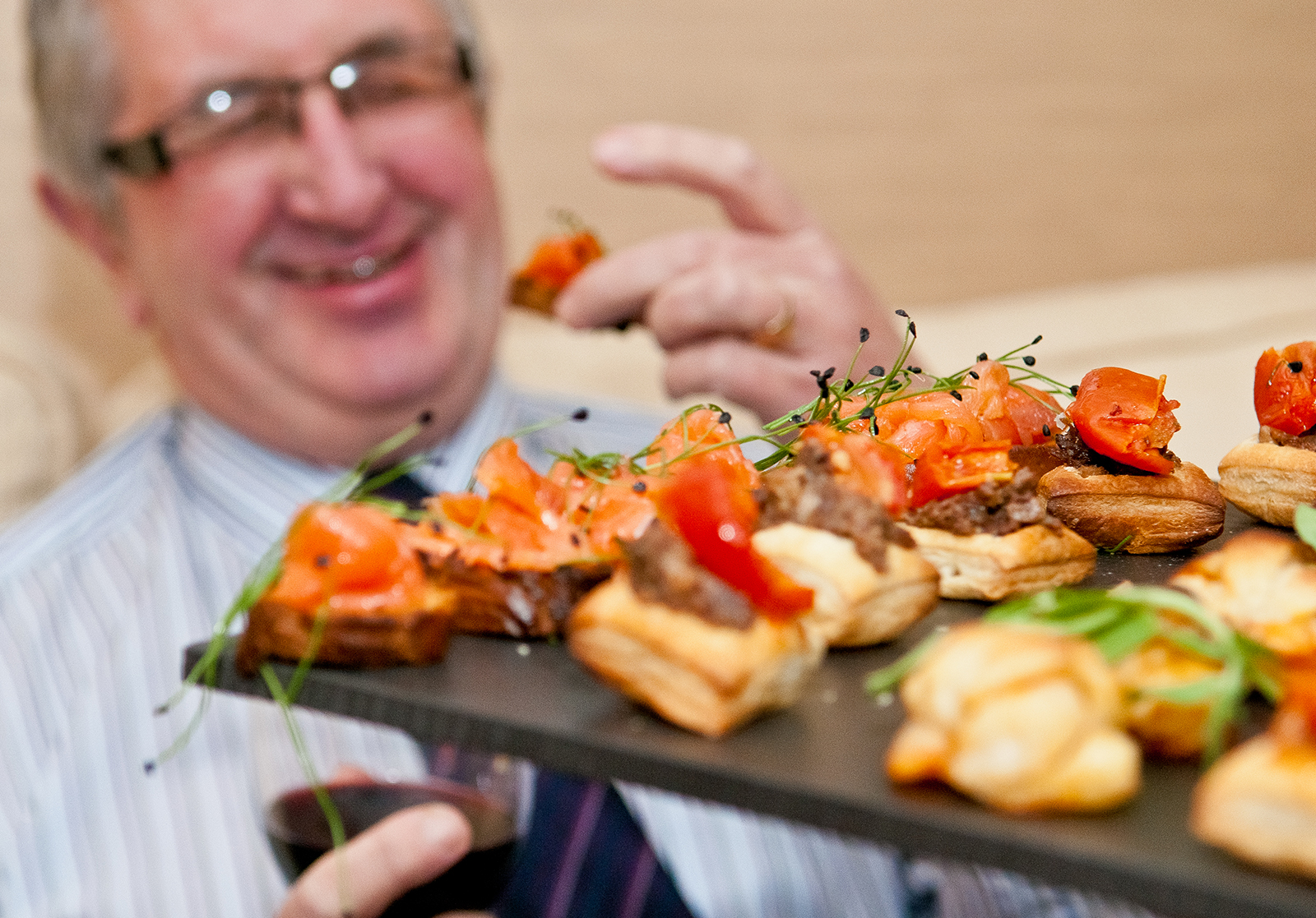 chef at home private catering canapes