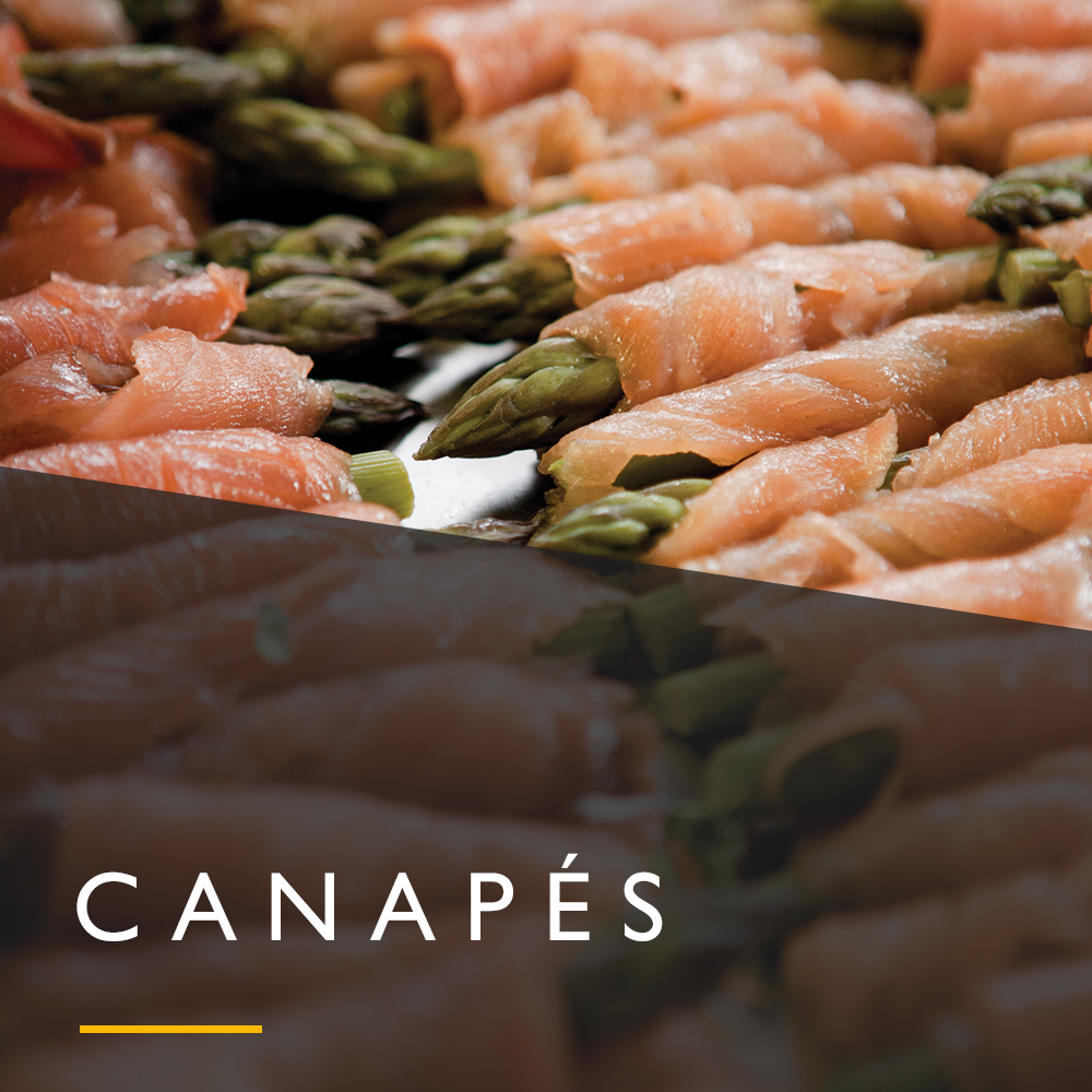 Wedding canapés menu from Spiros