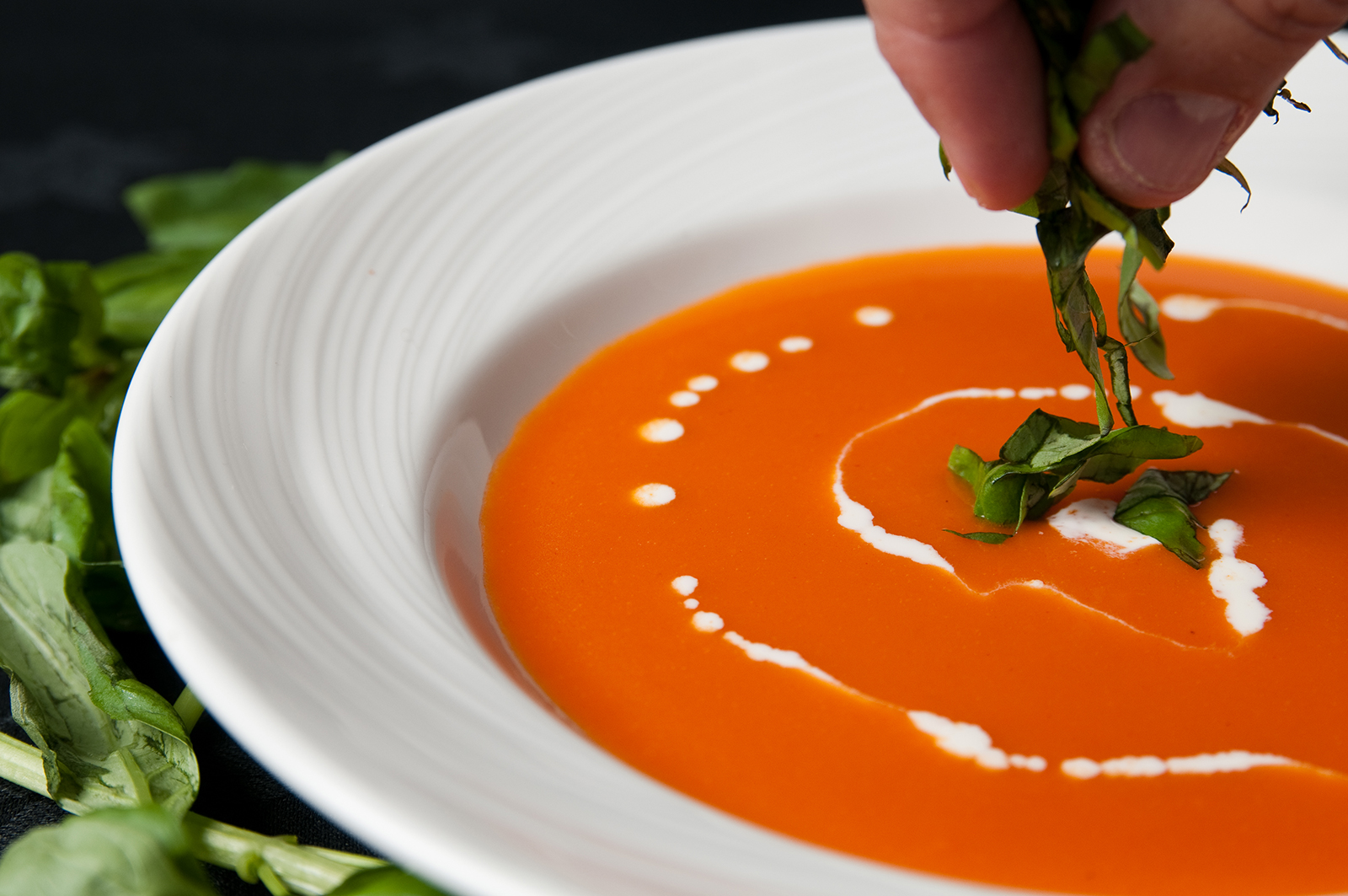 fine dining catering soup
