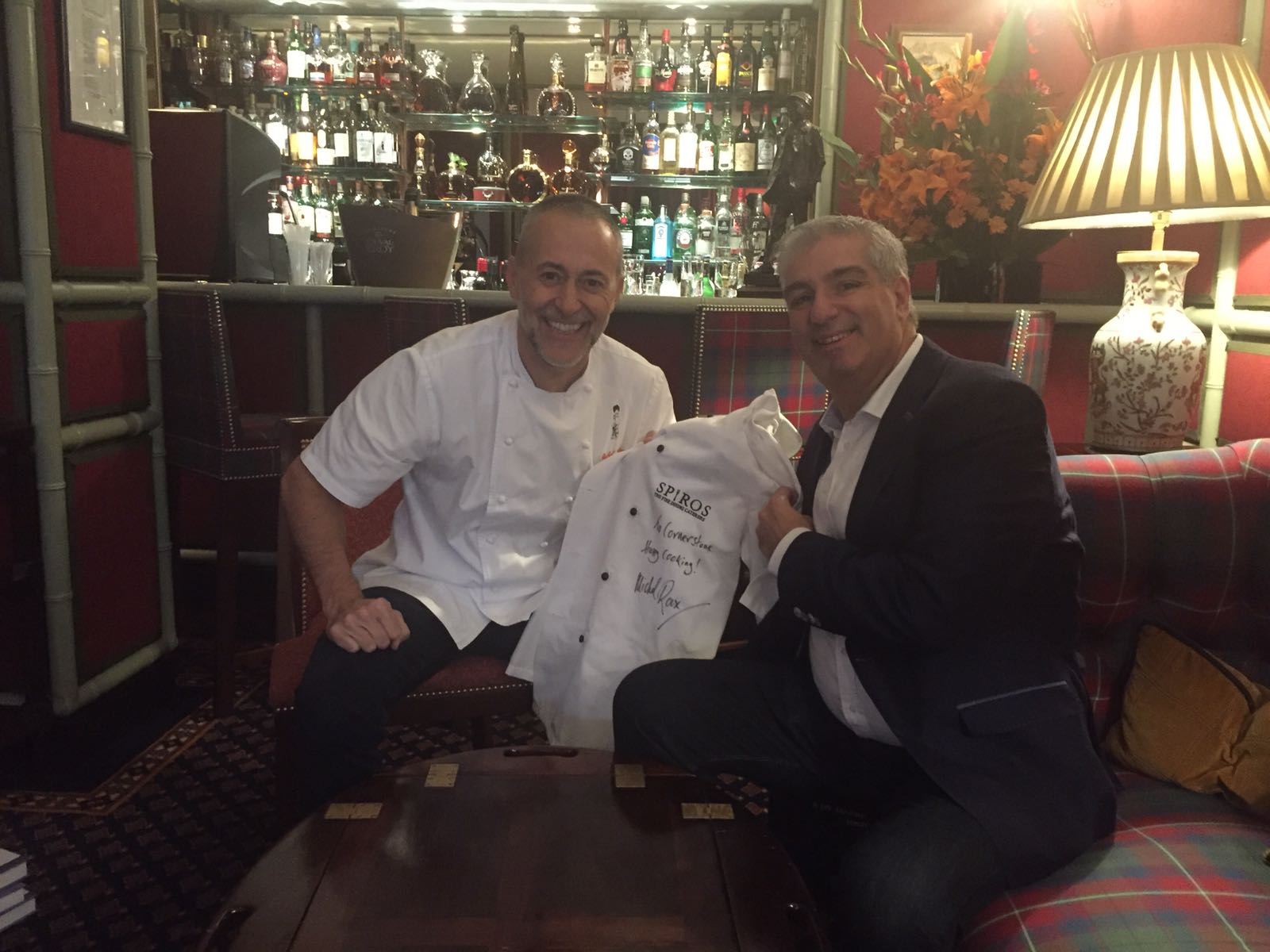 Spiro meets Michel Roux Jr. in London
