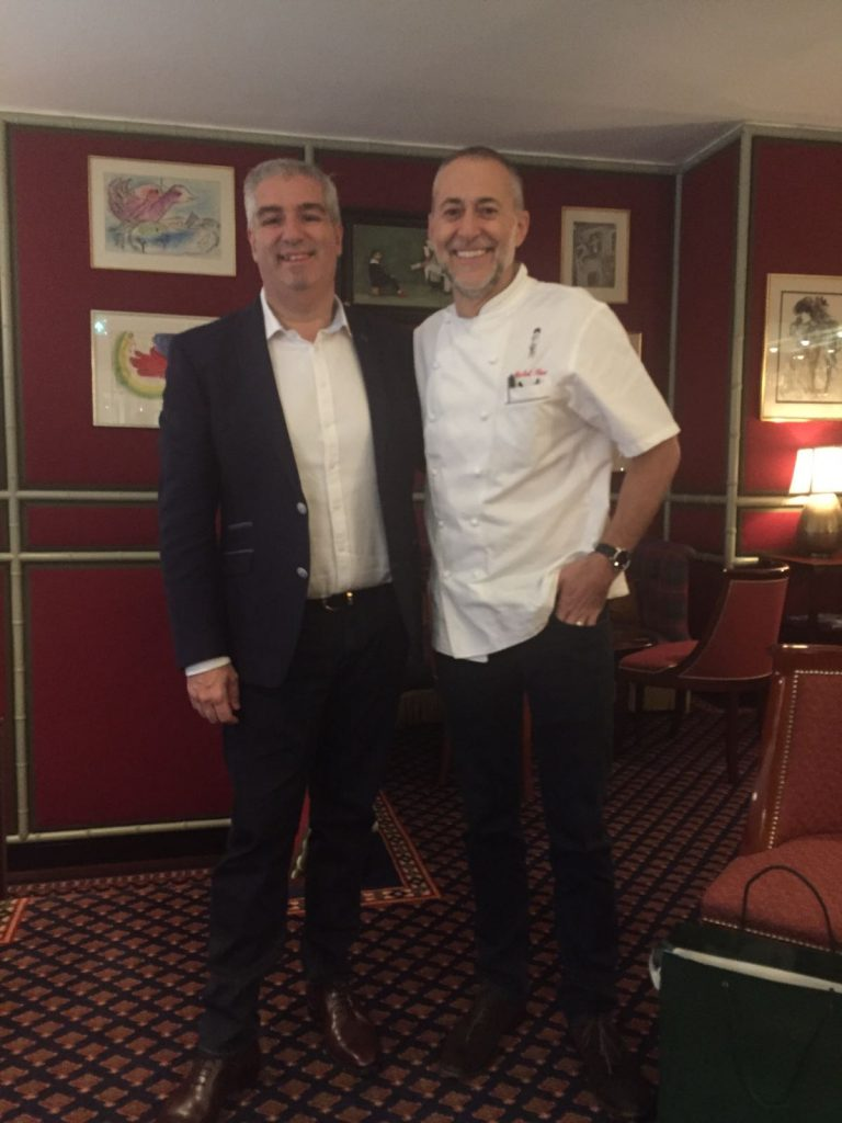 Spiro and Michel Roux Jr after their chat