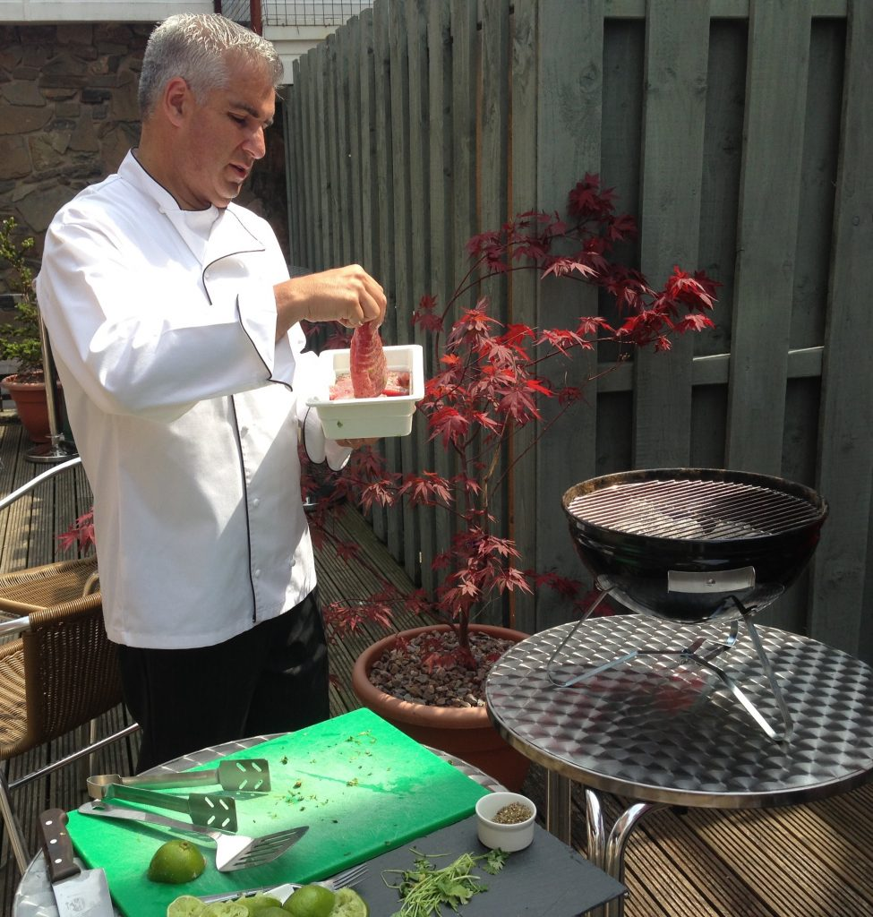 Spiros Al Fresco BBQ catering in Cardiff