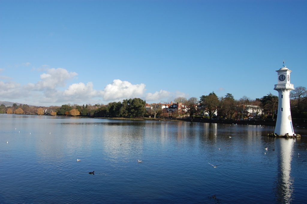 Roath Park, near St Peter's Hall