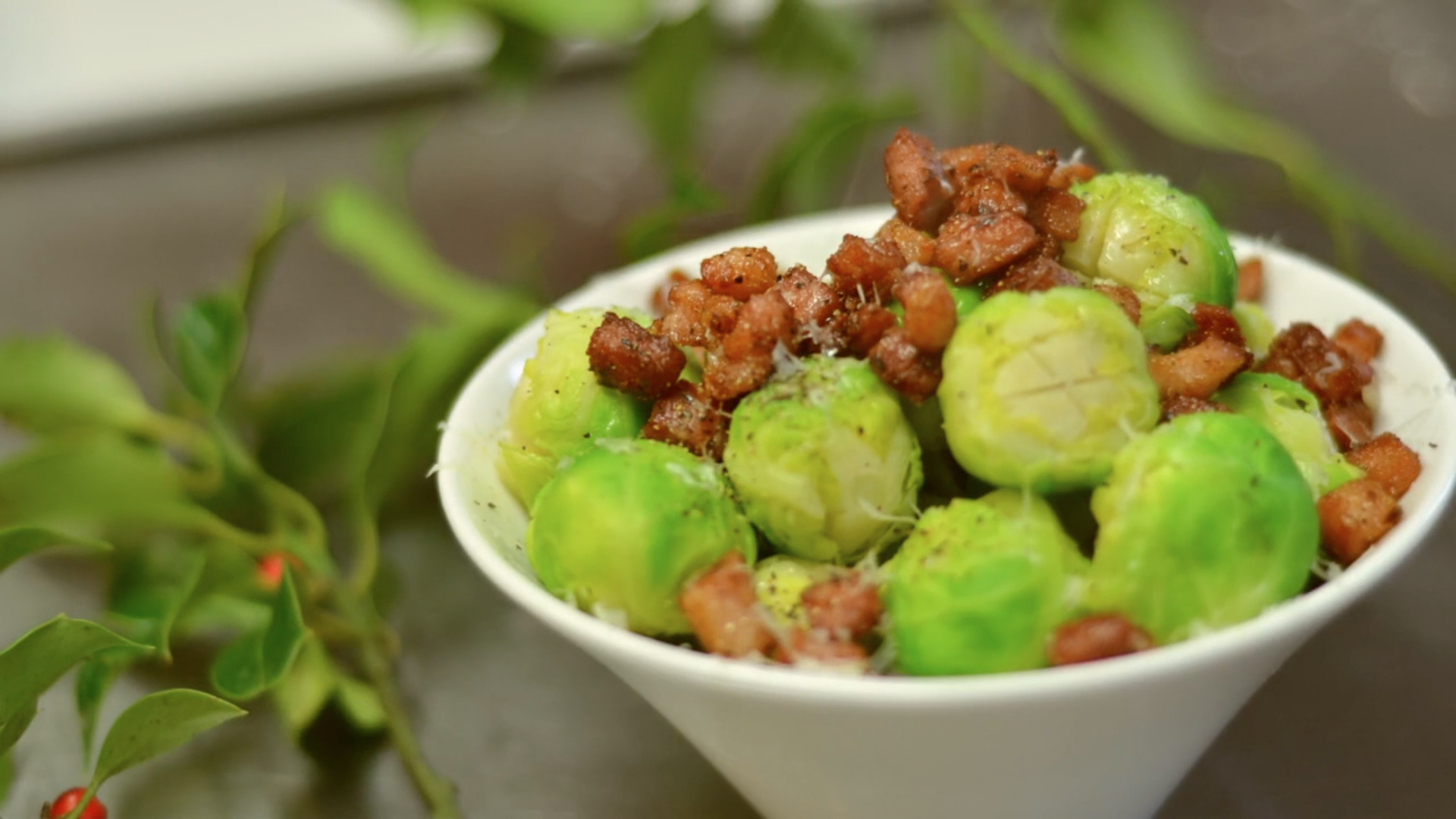 Make festive veggies fun with our Christmas sprouts recipe