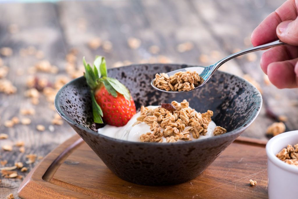 Oats Yoghurt and Fruit - Food Ideas For Athletes From Spiros
