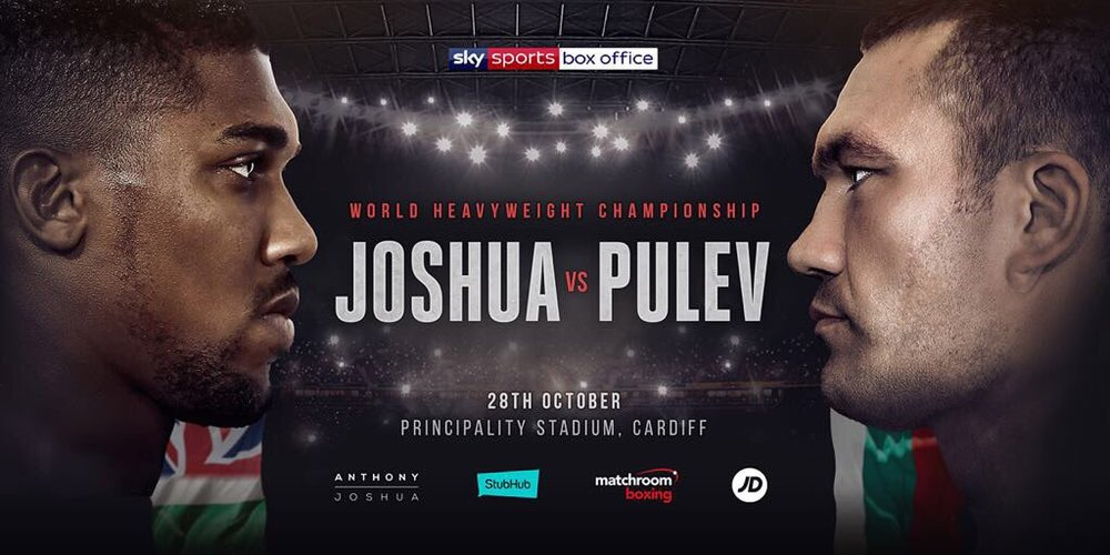 Watch Anthony Joshua vs Kubrat Pulev live at Cornerstone Cardiff
