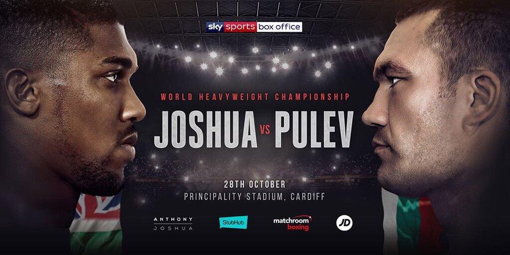 Watch Anthony Joshua vs Kubrat Pulev live at Cornerstone Cardiff