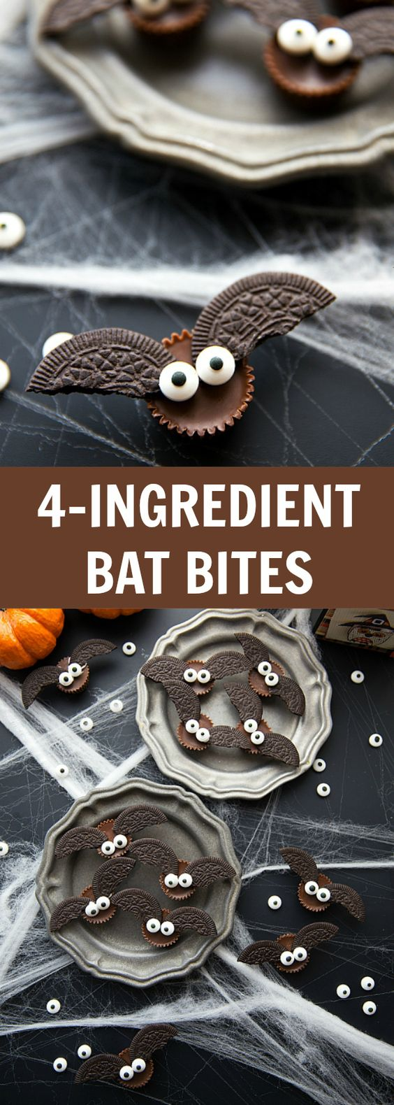 Bat Bites Halloween Food Tutorial - Spiros