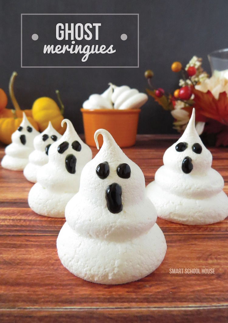 Ghost Meringues Halloween Dessert Tutorials