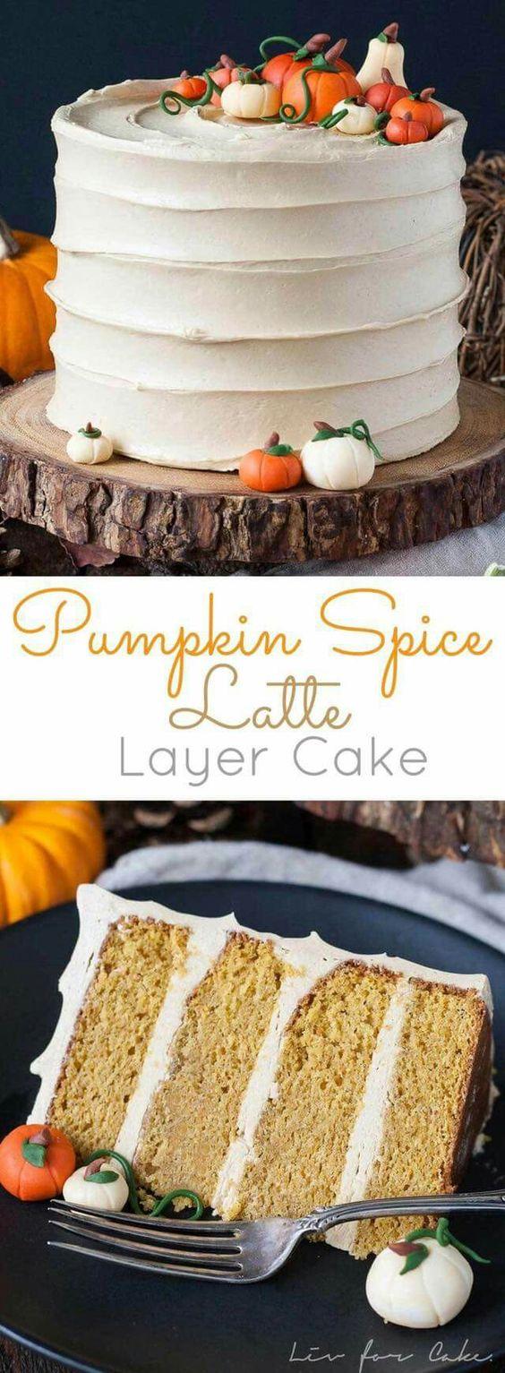 Pumpkin Spice Latte Cake Halloween Dessert Tutorial - Spiros
