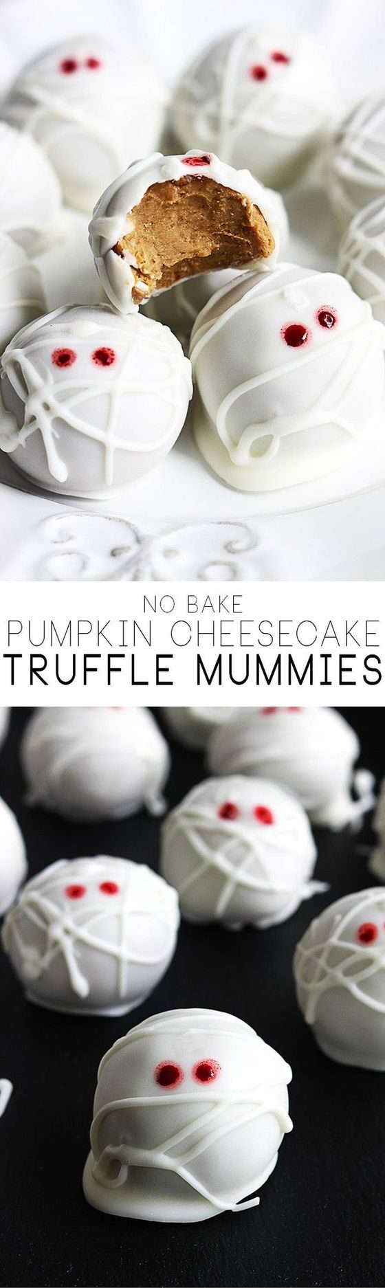 Truffle Cheesecake Mummies Halloween Dessert Tutorial