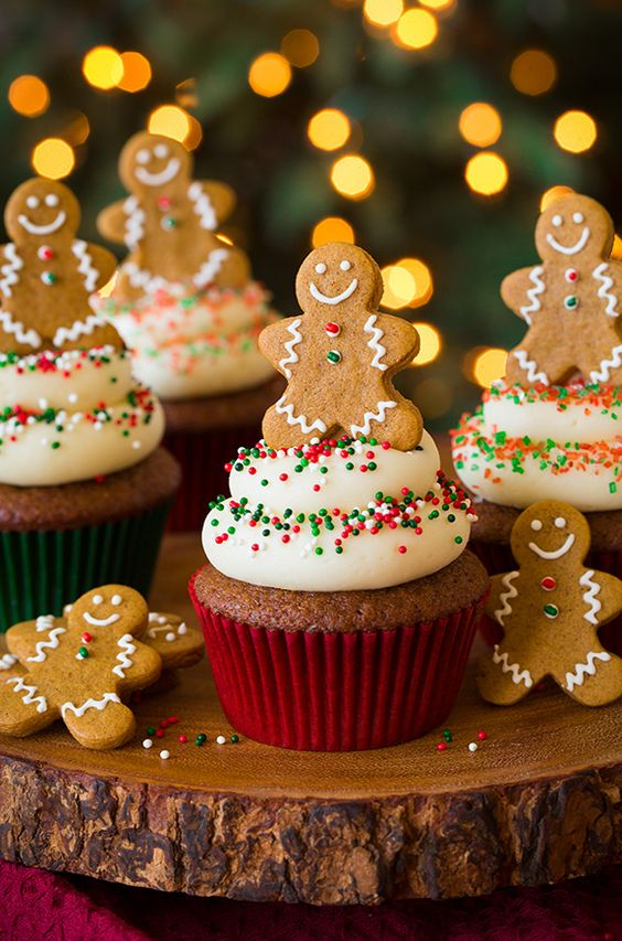 10 tasty alternatives to Christmas pudding - Gingerbread Cupcakes