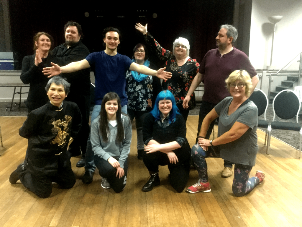 Watch Godspell at Cornerstone Cardiff in March 2018 - cast in rehearsal