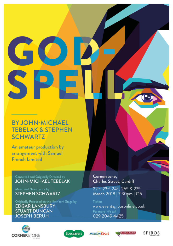 Watch Godspell at Cornerstone Cardiff in March 2018 - poster