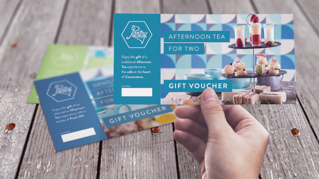 Afternoon Tea vouchers for Valentine's Day at The Pantry, Cornerstone, Cardiff