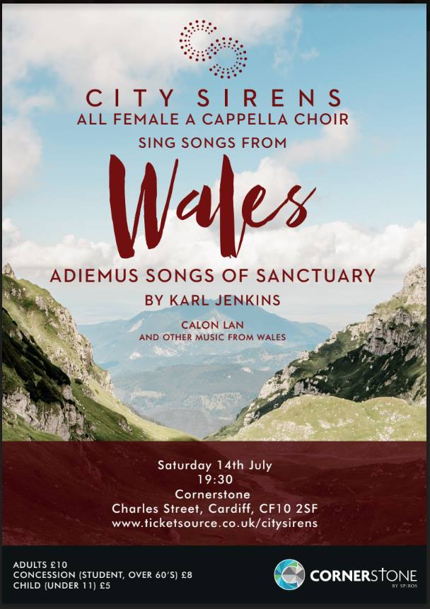 City Sirens sing a cappella Welsh songs at Cornerstone Cardiff in July