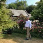 Our own Spiro, strolling through the gardens!