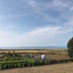 Spiro explores Gileston's lake & garden area