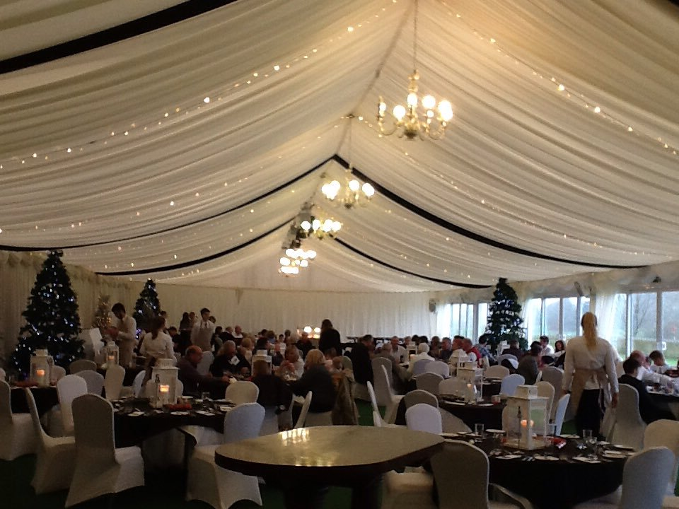 Christmas at Cottrell Park marquee