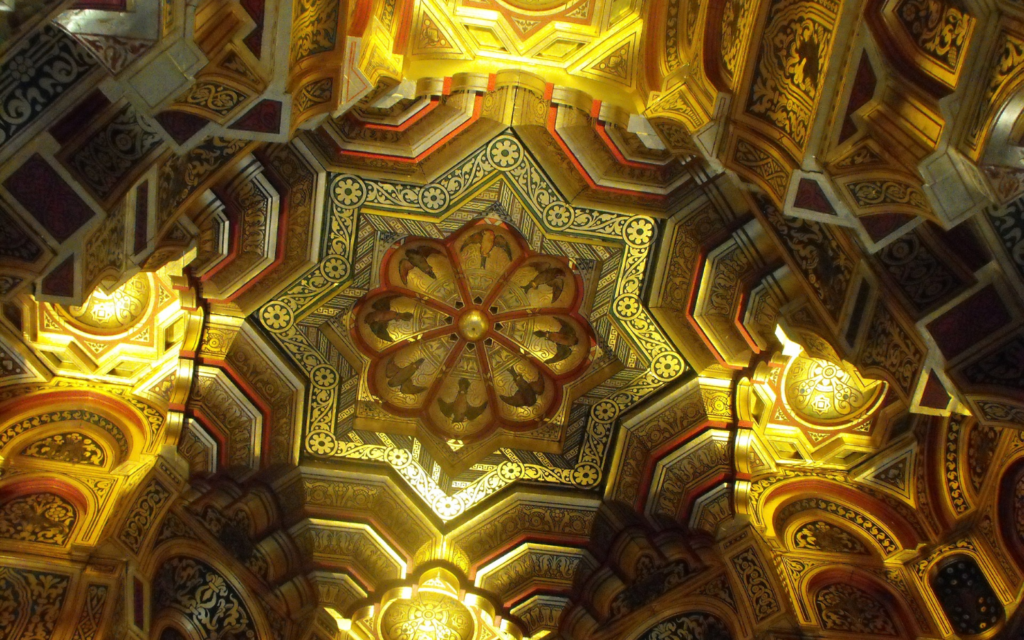Ceiling of Arab Room in Cardiff Castle for Mothers Day 2019 post